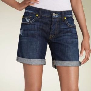 Rich & Skinny Denim Bermuda Shorts, sz 26